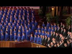"The Mormon Tabernacle Choir singing the world famous arrangement of ""Battle Hymn of the Republic."""