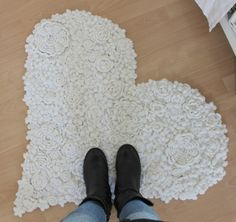Gorgeous Crochet Flowers Rug ~  Sweet Inspiration!!!