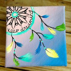 Tiny Pastel Dream Catcher Box Painting. by 2islandtimedesigns, $10.00 diy canvas art quotes, diy dream catcher canvas, diy canvas dream catcher, dream catcher quote, dream catcher painting, dream catcher canvas painting, canvas painting dream catcher, dream catcher paint crafts, dream catcher canvas art