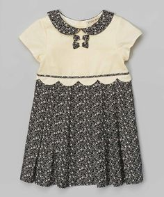 Another great find on #zulily! Black & Sable Floral Dress - Toddler & Girls by P'tite Môm #zulilyfinds