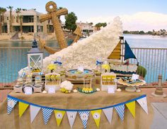 Anchors Aweigh baby shower baby shower ideas baby boy baby shower images baby shower pictures baby shower photos baby girl baby shower themes anchors