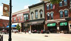 downtown Cedar Falls (Iowa) buildings