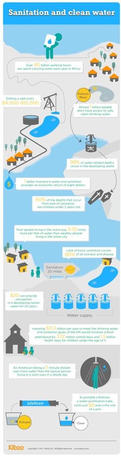 An infographic that describes the challenges facing developing countries in sourcing water.