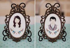 groom hipster, decor, weddings, brides, vintage frames, couple portraits, the bride, illustr portrait, bride groom