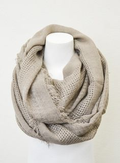 Oatmeal Knit Infinity Scarf Cozy Winter Chunky by dailyaccessoriez, $24.99