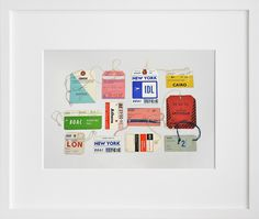 Day 256: Vintage Airline Tags, by Lisa Congdon | 20x200