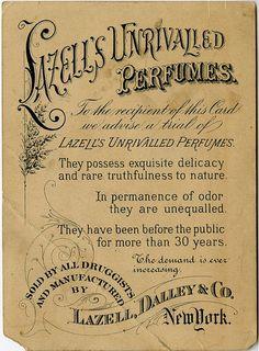 Lazell's Unrivalled Perfumes - Ephemera