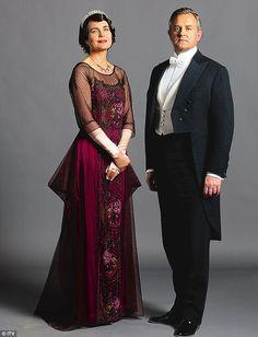 Cora Crawley, Countess of Grantham (Elizabeth McGovern) and Robert Crawley, Earl of Grantham (Hugh Bonneville)    Downton Abbey