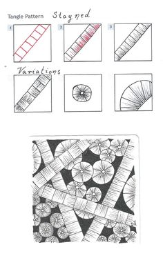 Stayned - Zentangle Pattern by. Dianne, a Certified Zentangle Teacher