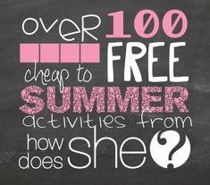 Great List of Fun Summer Activities