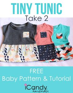 baby tunic tutorial, free pattern, tiny tunic, free baby patterns, tini tunic