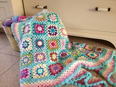 Granny squares blanket by niva via Flickr.