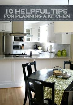 10 tips for planning any kitchen renovation and ideas for kitchen organization.