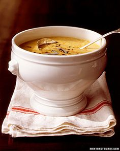 Red-Lentil Soup with Sage and Bacon - Martha Stewart Recipes