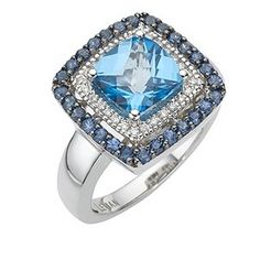 This Ocean Blue Topaz stunner is available now at @Ernest Jones and other many fine jewelry retailers