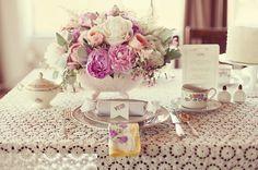 wedding tables, tea time, wedding table settings, vintage tables, pink weddings