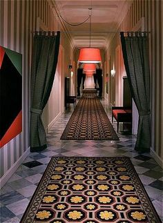 The amazing hallways at the Hotel Monaco in DC.