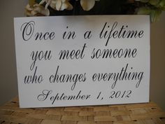 Wedding Day Sign With Established DateWhat a by SweetDayDesigns. , via Etsy.