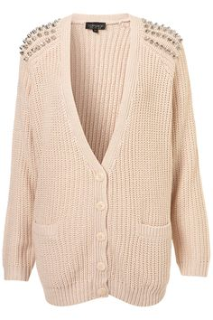 KNITTED STUD RIB CARDIGAN    Price: $96.00