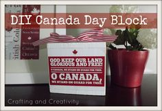 Crafting and Creativity: DIY Canada Day Block
