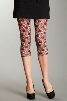 Anna Sui & Betsey Johnson  Anna Sui Paisley Posey Cropped Legging