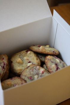 White Chocolate Raspberry Cookies - I made these on 16/3/2013 and they were amazing. They are up there with Sainsbury's cookies!