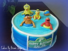 Sesame Street Pool Cake