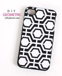 Silhouette America Blog | DIY Geometric Cell Phone Case Tutorial