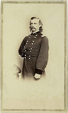 CDV of George Custer photographed by Brady Studio.