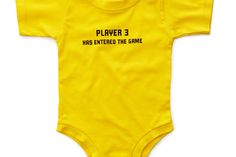 Baby gift for gamers: Player 3 onesie -- so adorable!