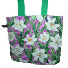 Spring Flowers Tote Bag by SimJaTa on Etsy, $24.00