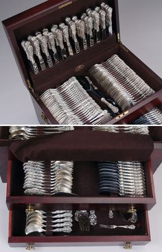 Reed & Barton Francis I Sterling Silver Flatware Set in Chest 326 Pieces