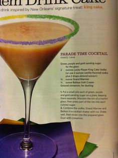 King Cake Cocktail, yum!