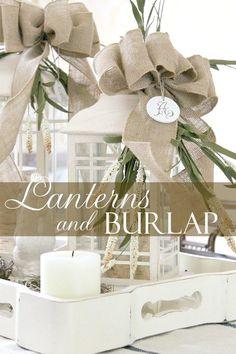 Lanterns & Burlap