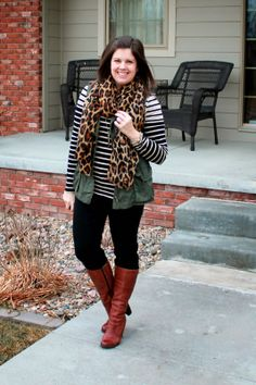 My New Favorite Outfit: Leopard and Stripes