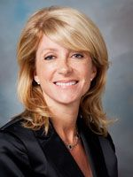 """Wendy Davis - Texas State Senator (D) - She was a single mom, teenage mother, got herself through high school, junior college, first in her class at Texas Christian, went to Harvard Law School, was on the Ft. Worth City Council. """"Texas Monthly"""" called her rookie of the year in the state senate.  She`s singlehandedly filibustered the senate into a special session over funding the schools."""