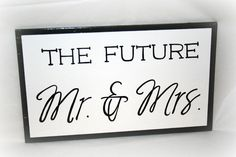 Engagement Photo Prop  #engaged #photography #prop #black #white #bride to be