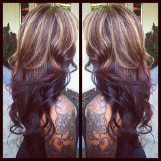 hair tattoos, hair coloring, ombre hair, makeup, fall hair colors, blond, beauti, hair style, highlight