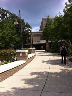 Walking to the UWF Library on a beautiful day. I like to spend a lot of time here studying and doing homework.