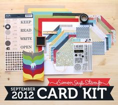 Simon Says Stamp Card Kit of the Month September 2012 YOU'RE AMAZING