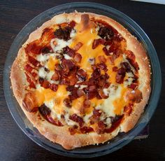 cheese burger pizza by For the Love of Food