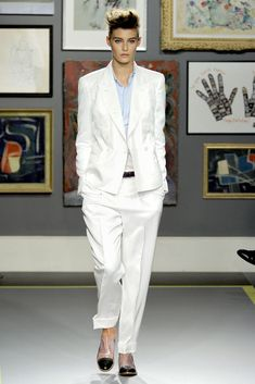 Ask dapperQ: Androgynous (NOT Masculine) Weding Attire? (Shown: White Slouchy Suit).