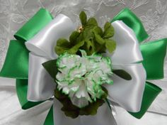 Irish Wedding St Patricks Day bows Green and by creativelycarole, $144.00
