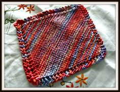 HOW TO KNIT A SIMPLE DISHCLOTH could make one for Mum!