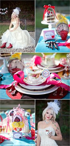 Alice in Wonderland wedding decor, wedding theme, wonderland ideas... cute ideas for not a wedding too @denise grant DuPree.. what do you think?