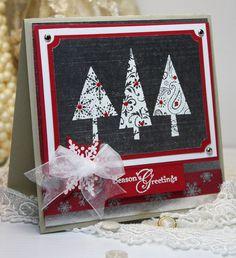 Christmas Card Handmade - Greeting Card - Season's Greetings - Stampin Up