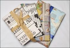 Newspaper as gift wrapping