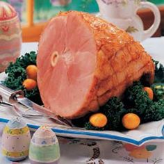Orange-Glazed Ham - Break out the orange marmalade for this ham and don't for get the kumquats to dress it with!