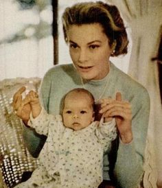 Princess Grace of Monaco & Princess Caroline  #monacoroyalty