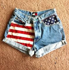 american flag shorts diy